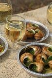 Escargot, antipasto. Fotografia Stock