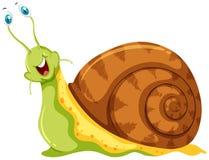 Escargot avec des globes oculaires collant  illustration de vecteur
