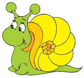 Escargot (clip-art de vecteur) Image stock