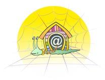 Escargot d'Internet Photo libre de droits