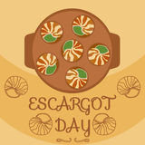 Escargot day decoration Royalty Free Stock Image