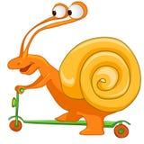 Escargot de personnage de dessin animé Image libre de droits