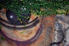 Escargot de vert de feuille de Wallleaves Image libre de droits