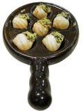 Escargot delicioso aislado Foto de archivo libre de regalías