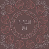 Escargot dnia dekoracja ilustracja wektor
