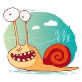 Escargot drôle Illustration Libre de Droits