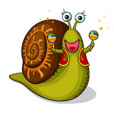 Escargot drôle Image libre de droits