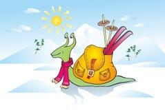 escargot en hiver Photo stock