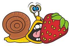 Escargot et fraises illustration libre de droits