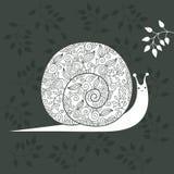 Escargot floral illustration stock