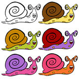 Escargot mignon de dessin animé Image libre de droits
