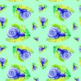 Escargot pourpre abstrait sur une grande feuille verte Illustration d'aquarelle d'isolement sur le fond vert Configuration sans j illustration de vecteur
