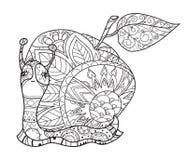 Escargot stylisé d'art de zen illustration de vecteur