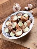 Escargots avec du beurre d'ail Photographie stock