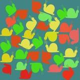 Escargots colorés d'animaux-le photos stock