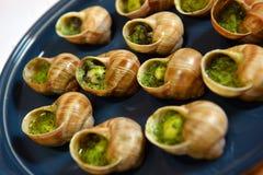 Escargots de raisin cuits au four Photographie stock libre de droits