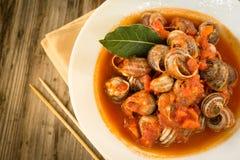 Escargots de tomate Image libre de droits