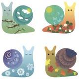 Escargots mignons Photos libres de droits