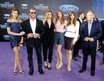 Escarlata Rose Stallone, Sistine Rose Stallone, Sylvester Stallone, Jennifer Flavin, Sophia Rose Stallone, Frank Stallone foto de archivo libre de regalías