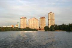 Escarlate complexo residencial das velas, Moscou Fotos de Stock Royalty Free