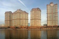 Escarlate complexo residencial das velas, Moscou Fotografia de Stock