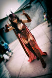 Escarlate da bruxa da banda desenhada dos vingadores e do X-Men, San Diego Comic Con fotografia de stock