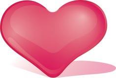 Escarlate do coração imagens de stock