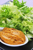 Escarole endive with romesco sauce, a typical salad from Catalon Stock Photography