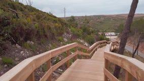 Escarpas人行桥在葡萄牙 影视素材