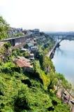 Escarpment in the Douro river Stock Photo