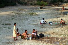Escasez de agua potable Imagenes de archivo