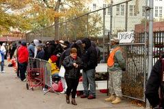 Escasez del gas después del huracán Sandy Fotografía de archivo