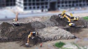 Escavação video estoque
