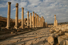 Escavação Archeological em Jerash (Jordão) Imagens de Stock