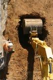 A escavação começa foto de stock