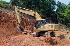Escavação da máquina escavadora Foto de Stock