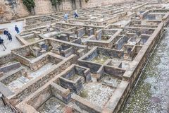 Escavação de quartos dos soldados de Alhambra fotos de stock