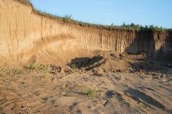Escavação de terra Imagens de Stock Royalty Free