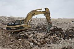 Escavação na pedra Fotos de Stock Royalty Free