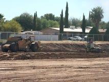 Escavação para a construção Fotos de Stock Royalty Free