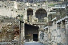 Escavações 7 de Herculaneum foto de stock
