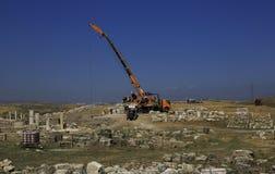 Escavações arqueológicos Fotografia de Stock