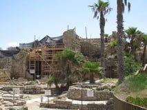 Escavações arqueológicos em Cesareia imagem de stock