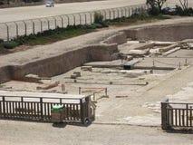 Escavações arqueológicos em Cesareia foto de stock royalty free