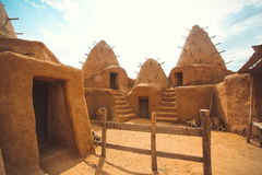 Escavações da vila antiga no deserto Imagem de Stock