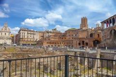 Escavações do fórum antigo do ` s de Trajan Imagem de Stock Royalty Free