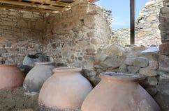 Escavações velhas do potenciômetro de argila Foto de Stock Royalty Free