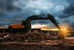 Escavador imagem de stock