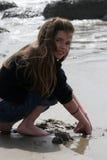 Escavador da areia Imagens de Stock Royalty Free