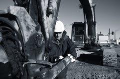 Escavador e excitador Imagem de Stock Royalty Free